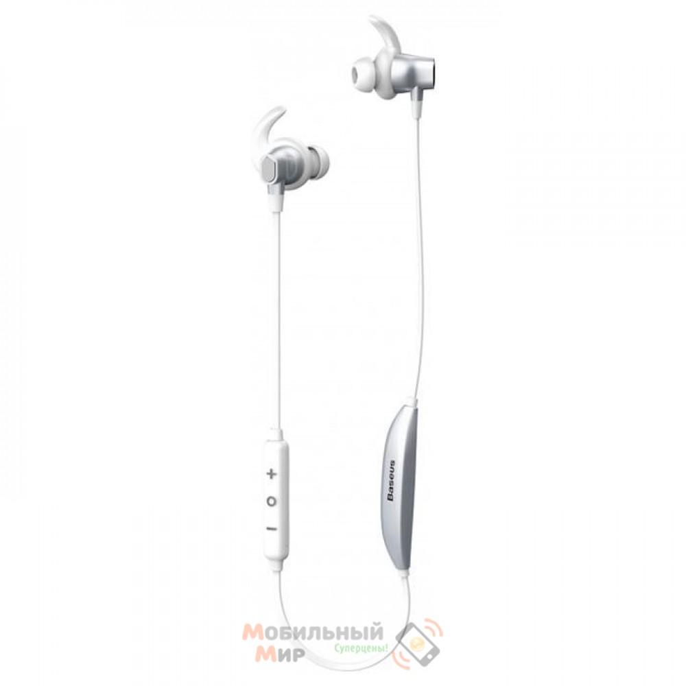 Наушники с микрофоном Baseus Encok S03 Silver/White (NGS03-02)