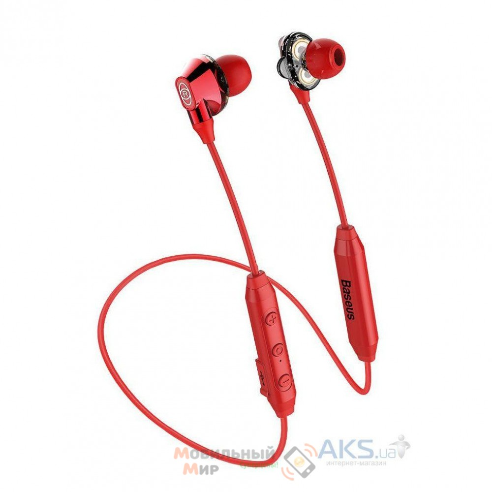 Наушники с микрофоном Baseus Encok S10 Red (NGS10-09)