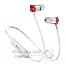 Наушники с микрофоном Baseus Encok S07 Silver/Red (NGS07-S9)