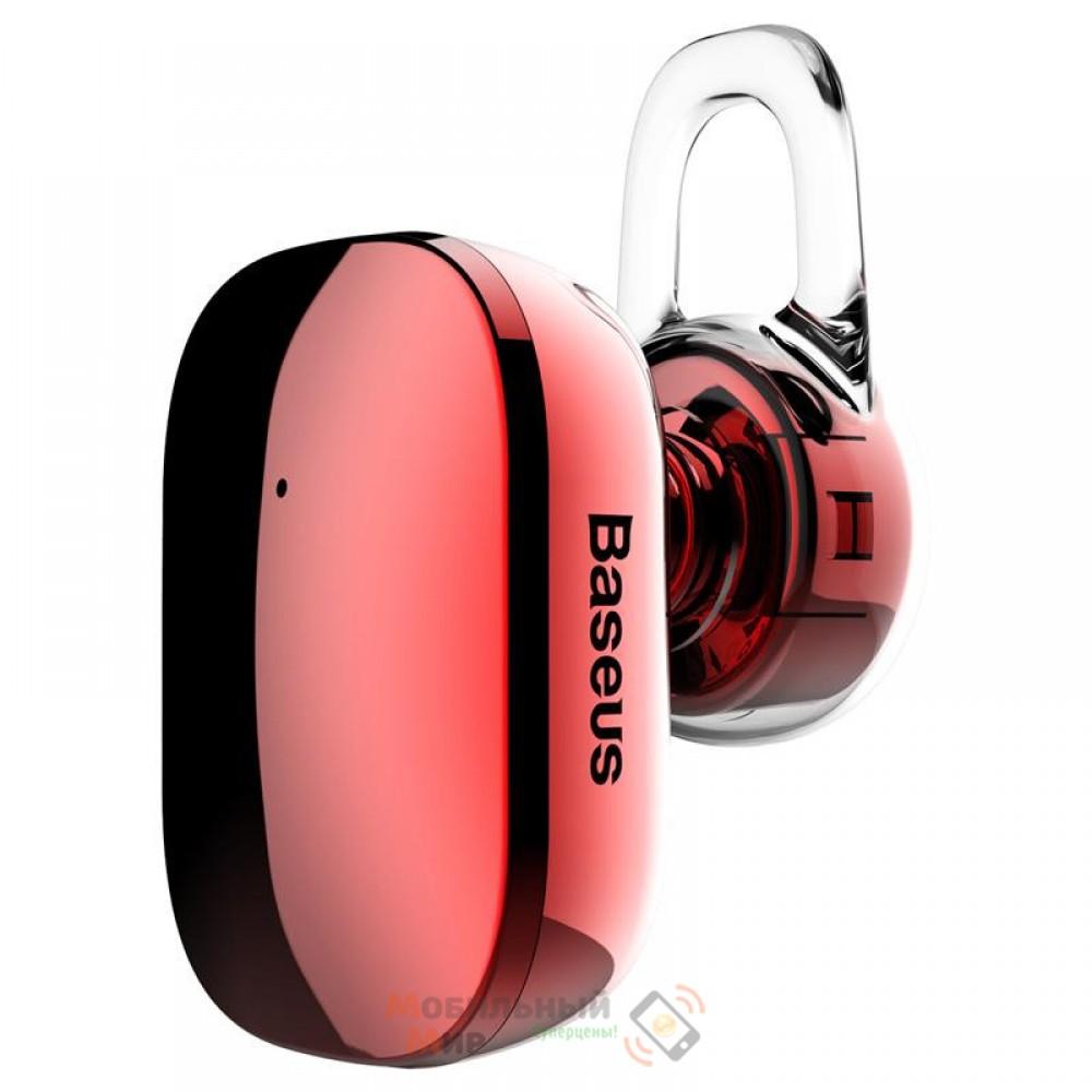 Bluetooth-гарнитура Baseus A02 Encok Mini Wireless Earphone Red (NGA02-09)