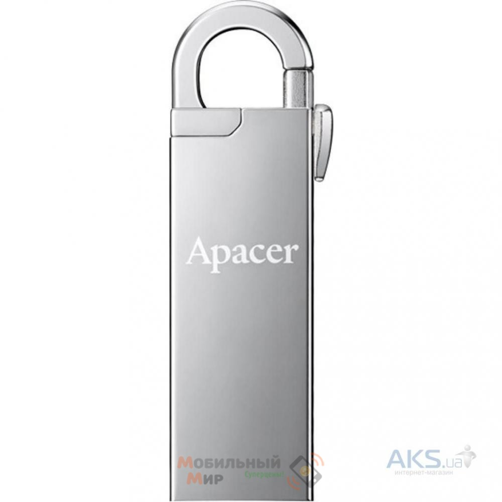 Флешка Apacer 16 GB AH13A Silver USB 2.0 (AP16GAH13AS-1)