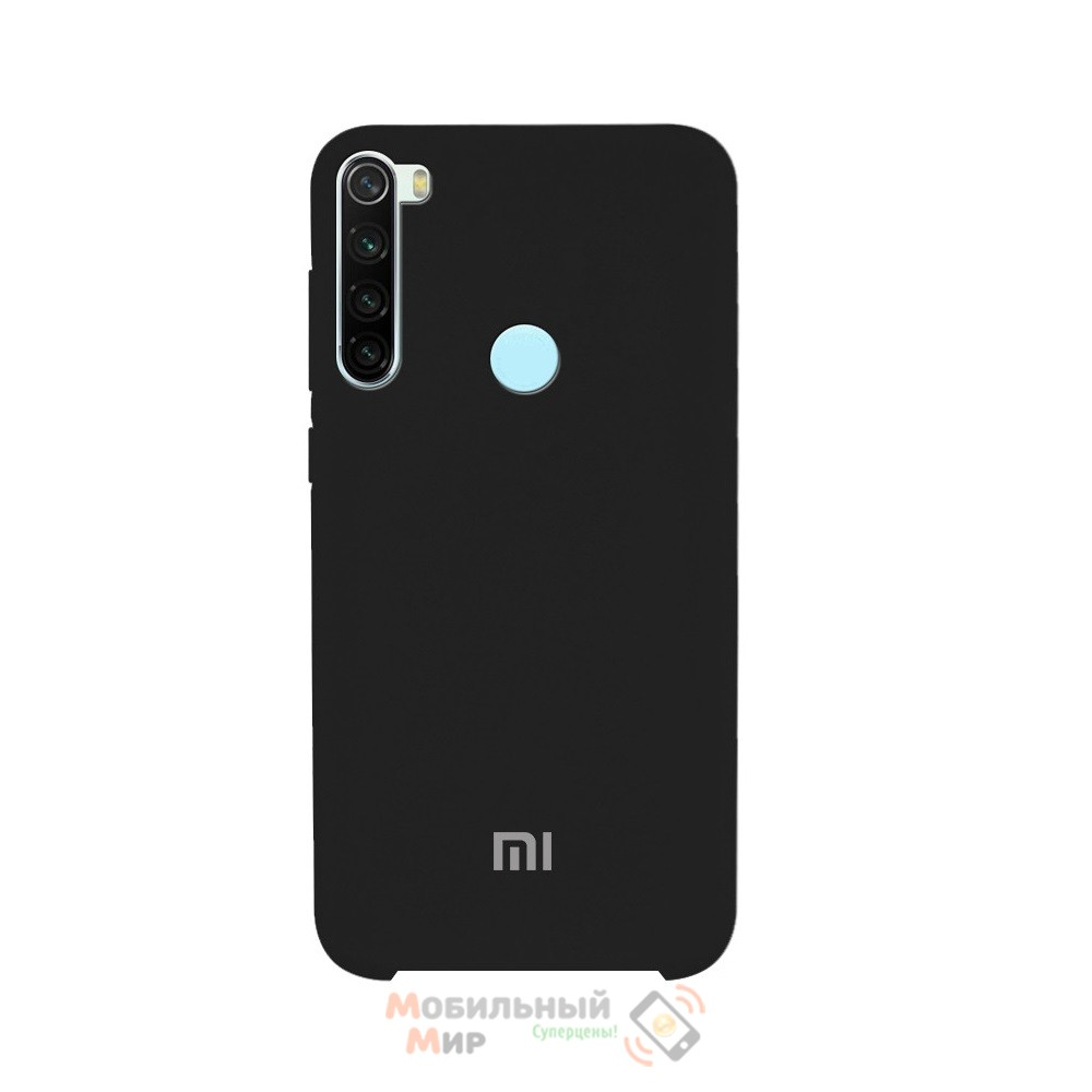 Силиконовая накладка Silicone Case для Xiaomi Redmi Note 8 Black