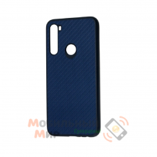 Накладка карбоновая Kevlar для Xiaomi Redmi Note 8 Blue