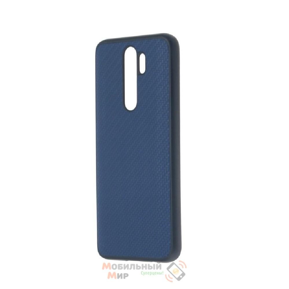 Накладка карбоновая Kevlar Blue для смартфона Xiaomi Redmi Note 8 Pro