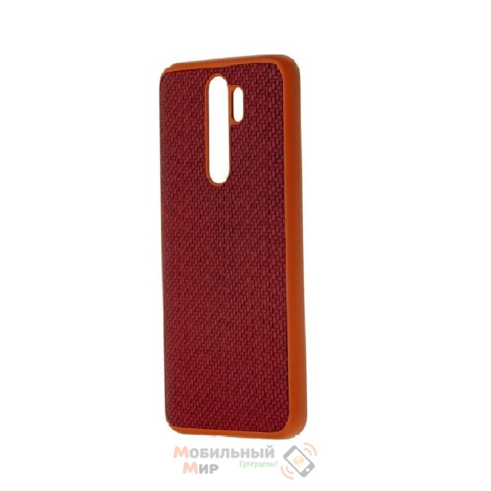 Накладка карбоновая Kevlar Red для смартфона Xiaomi Redmi Note 8 Pro
