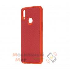 Накладка карбоновая Kevlar для Samsung A10s/A107 Red