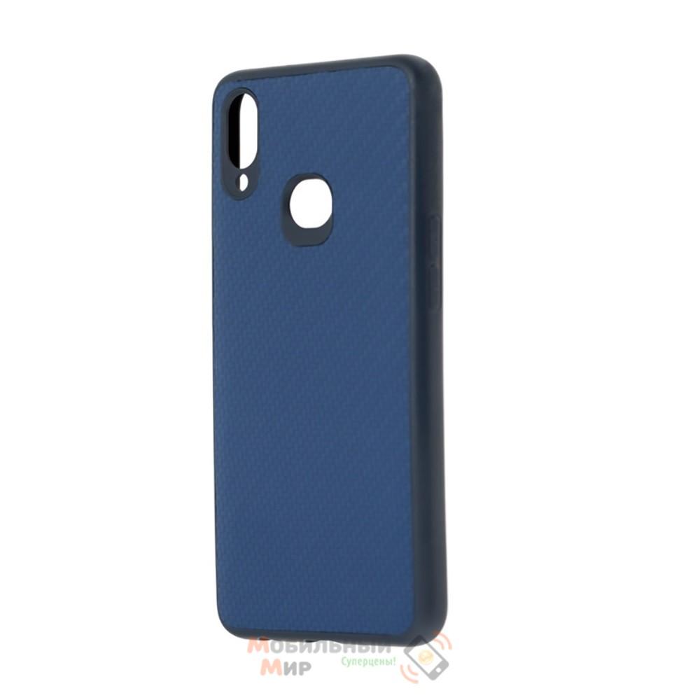 Накладка карбоновая Kevlar Blue для смартфона Samsung A10s/A107