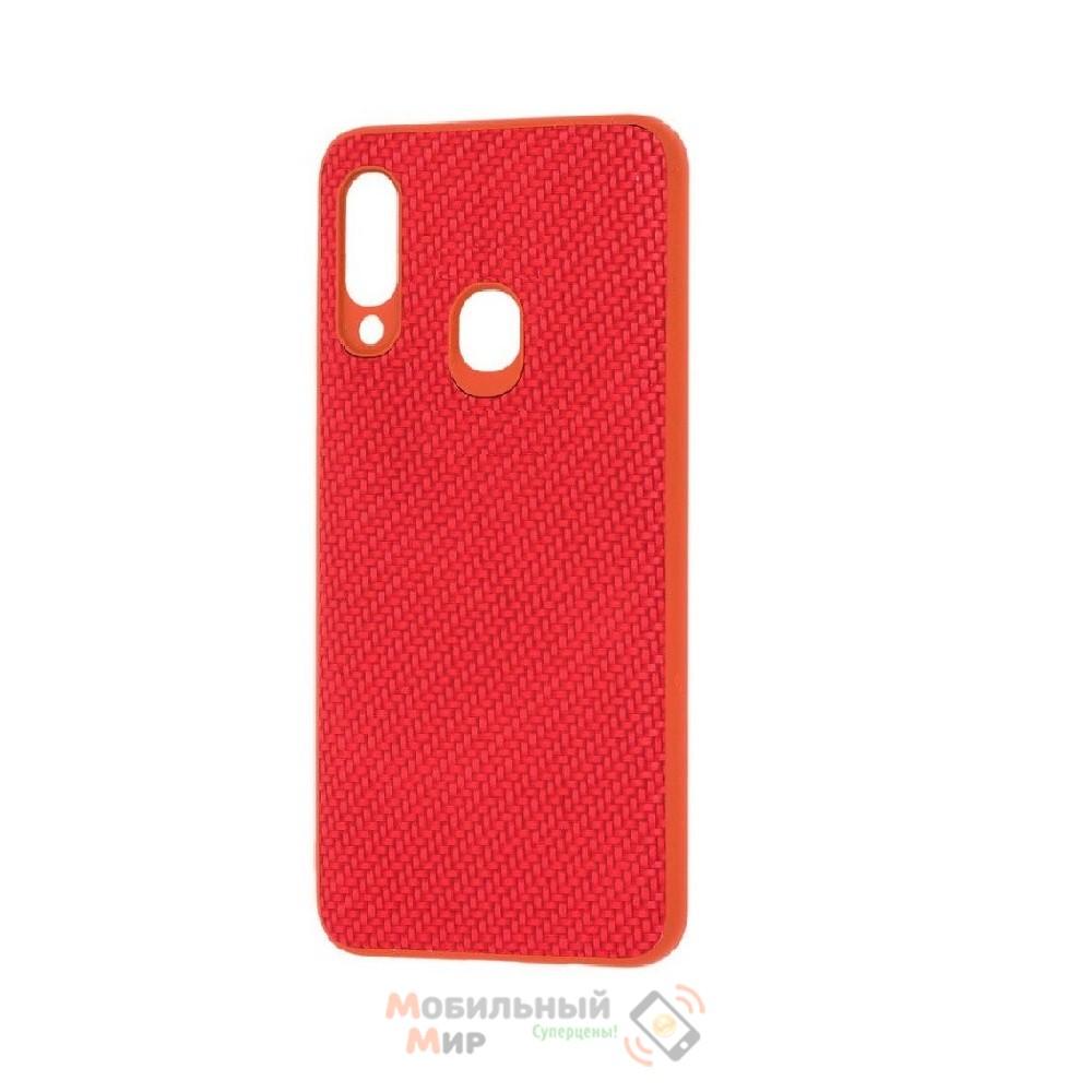 Накладка карбоновая Kevlar Red для смартфона Samsung A20s/A207 Red