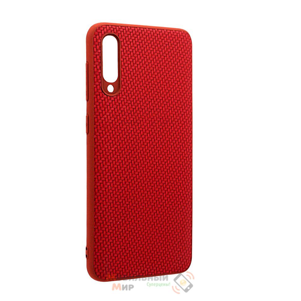 Накладка карбоновая Kevlar Red для смартфона Samsung A30s/A307 Red