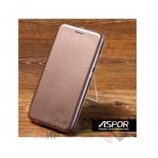 Чехол-книжка Aspor Leather для Xiaomi Redmi 8 Gold