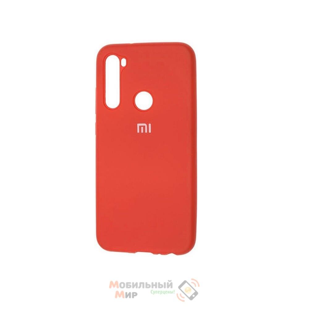 Силиконовая накладка Silicone Case для Xiaomi Redmi Note 8T Red