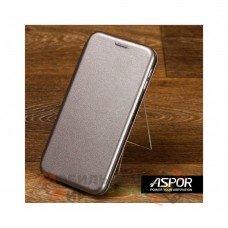 Чехол-книжка Aspor Leather для Xiaomi Redmi Note 8 Pro Graphite