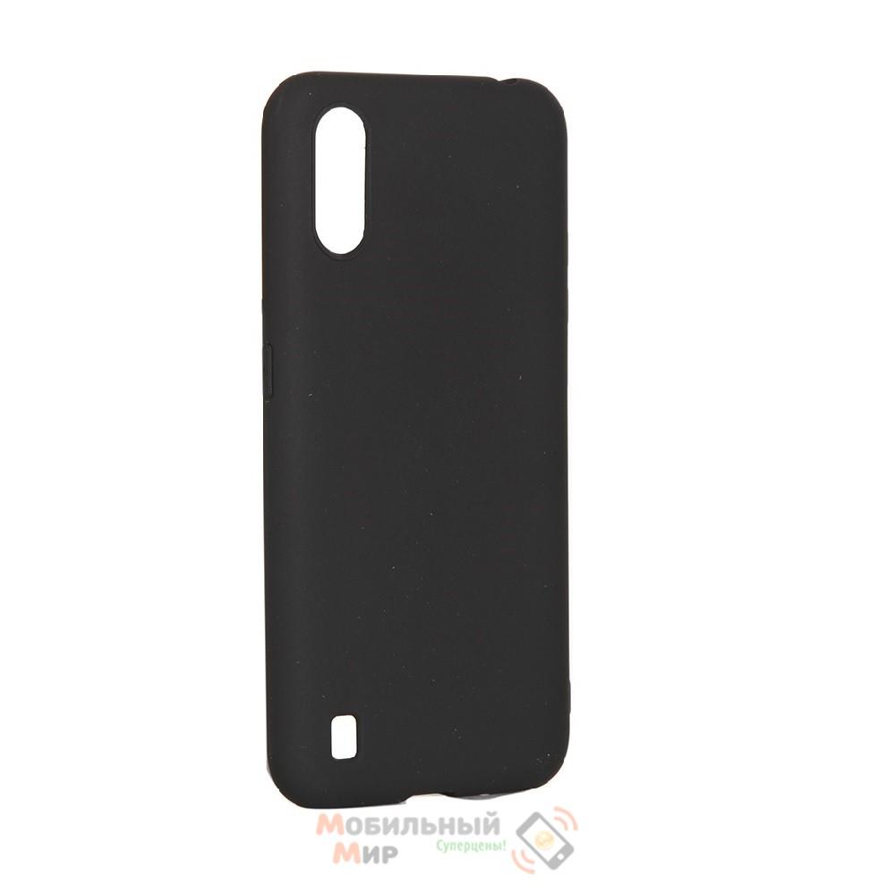 Силиконовая накладка SMTT- Soft Touch для смартфона Samsung A01/A015 Black
