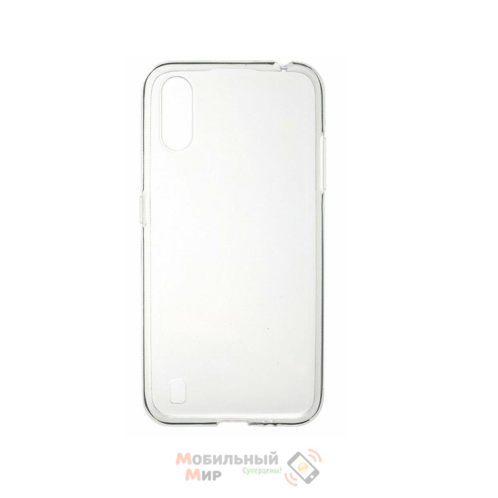 Силиконовая накладка SMTT- Soft Touch Tansparent для смартфона Samsung A01/A015