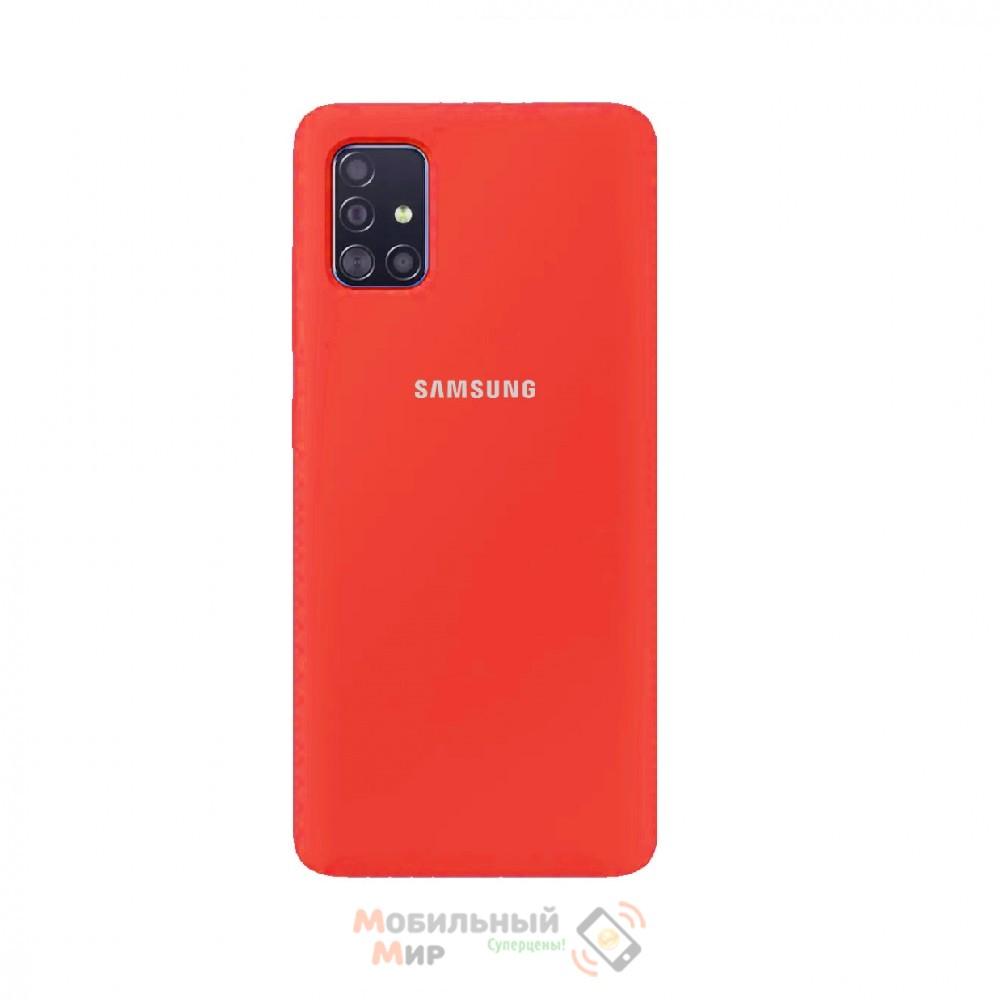 Силиконовая накладка Silicone Case для Samsung A51 2020 A515 Coral