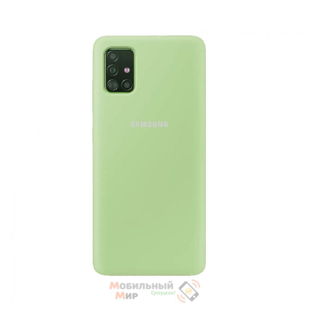 Силиконовая накладка Silicone Case для Samsung A51 2020 A515 Green