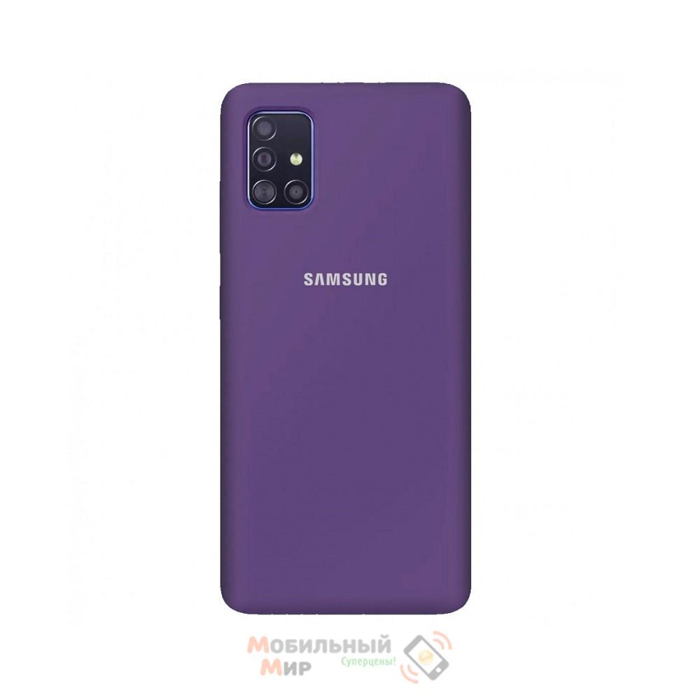 Силиконовая накладка Silicone Case для Samsung A71 2020 A715 Violet