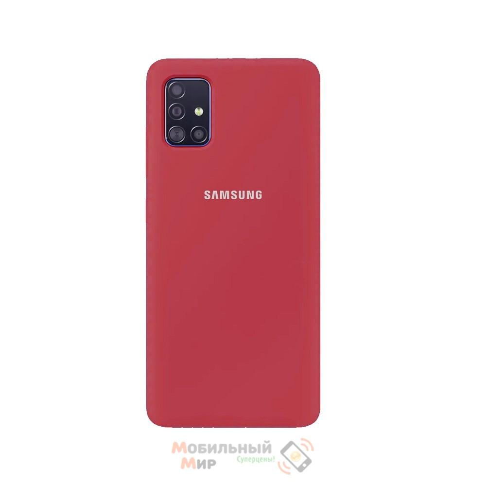 Силиконовая накладка Silicone Case для Samsung A71 2020 A715 Red