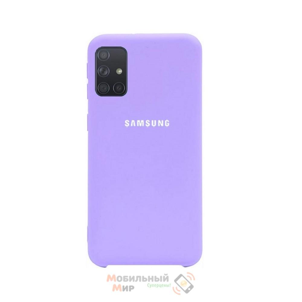 Силиконовая накладка Silicone Case для Samsung A51/A515 2020 Lilac