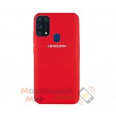 Силиконовая накладка Silicone Case для Samsung M31 2020 M315 Red