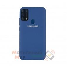 Силиконовая накладка Silicone Case для Samsung M31 2020 M315 Dark blue