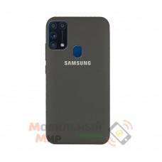 Силиконовая накладка Silicone Case для Samsung M31 2020 M315 Grey