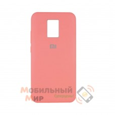 Силиконовая накладка Silicone Case для Xiaomi Redmi Note 9 Pro/ Note 9S Coral