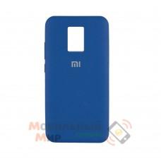 Силиконовая накладка Silicone Case для Xiaomi Redmi Note 9 Pro/ Note 9S Blue