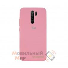 Силиконовая накладка Silicone Case для Xiaomi Redmi 9 Pink