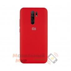 Силиконовая накладка Silicone Case для Xiaomi Redmi 9 Red