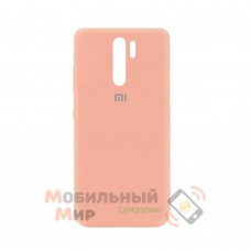 Силиконовая накладка Silicone Case для Xiaomi Redmi 9 Peach