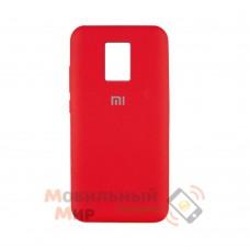 Силиконовая накладка Silicone Case для Xiaomi Redmi Note 9 Pro/ Note 9S Red