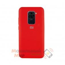 Силиконовая накладка Silicone Case для Xiaomi Redmi Note 9 Red