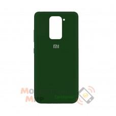 Силиконовая накладка Silicone Case для Xiaomi Redmi Note 9 Dark Green