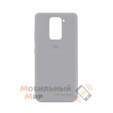 Силиконовая накладка Silicone Case для Xiaomi Redmi Note 9 Grey