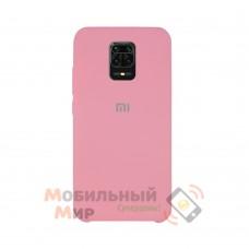 Силиконовая накладка Silicone Case для Xiaomi Redmi Note 9 Pro/ Note 9S Pink