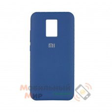 Силиконовая накладка Silicone Case для Xiaomi Redmi Note 9 Pro/ Note 9S Dark Blue