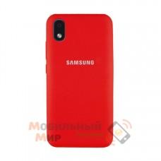 Силиконовая накладка Soft Silicone Case для Samsung A01/A013 2020 Core Red