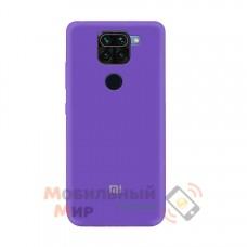 Силиконовая накладка Soft Silicone Case для Xiaomi Redmi Note 9 Pro/ Note 9 Violet