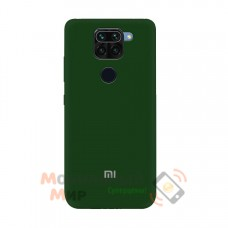Силиконовая накладка Soft Silicone Case для Xiaomi Redmi Note 9 Pro/ Note 9 Dark Green