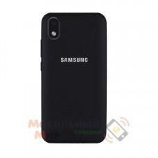 Силиконовая накладка Soft Silicone Case для Samsung A01/A013 2020 Core Black