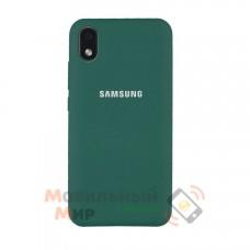 Силиконовая накладка Soft Silicone Case для Samsung A01/A013 2020 Core Dark Green