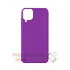 Силиконовая накладка Soft Silicone Case для Samsung A12 2021 Purple