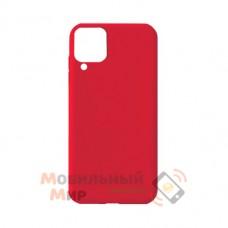 Силиконовая накладка Soft Silicone Case для Samsung A12 2021 Red