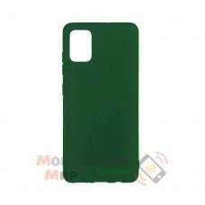 Силиконовая накладка Soft Silicone Case для Samsung A02s 2021 Dark Green