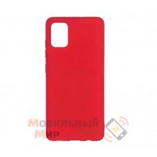 Силиконовая накладка Soft Silicone Case для Samsung A02s 2021 Red