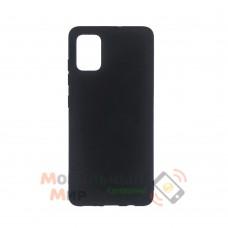 Силиконовая накладка Soft Silicone Case для Samsung A02s 2021 Black