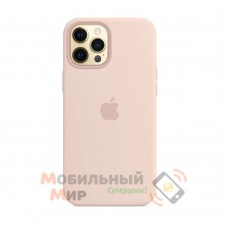Силиконовая накладка Silicone Case для iPhone 12 Pro Max Pink Sand