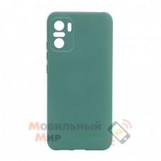 Силиконовая накладка Molan Cano для Xiaomi Redmi Note 10/Note 10S Light Green