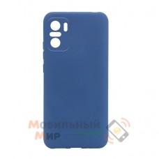 Силиконовая накладка Molan Cano для Xiaomi Redmi Note 10/Note 10S Metallic Blue